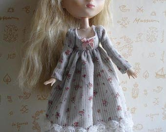 Japanese cotton voile victorian dress, for Pullip
