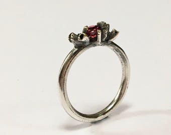 Forrest Treasures Garnet Ring