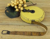 Retractable Tape Measure, Cloth Wind-up Tape Measure, Vintage Tools, Gift for Dad, Lufkin 50 Feet, Vintage Tape Measure 17-23