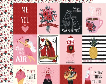 Hello sweetheart 4x4 journaling cards