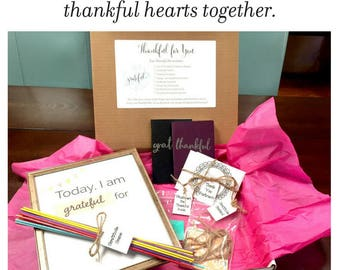 Thankful Kit • Family Gratitude Activities • Thanksgiving Activities • DIY Thank You Postcards • Thankful Journals • Thankful for You
