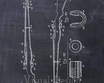 M-1 Rifle Patent Print, M1 Rifle Patent Art Print, Rifle Patent Poster