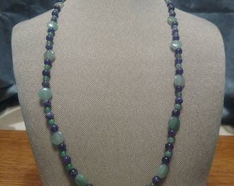 Amethyst and Green Aventurine Necklace