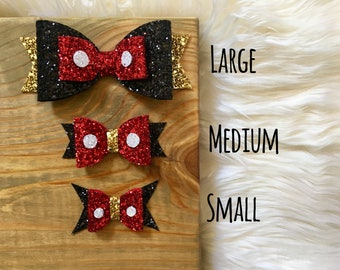 Mickey Mouse Disney Inspired Hair Bow