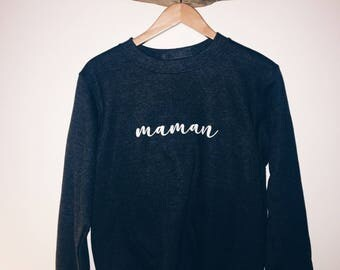 maman//mom//french//crew sweater