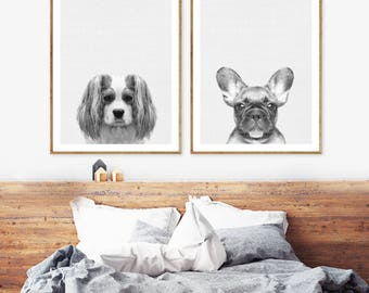 Exceptionnel Dog Wall Art | Etsy
