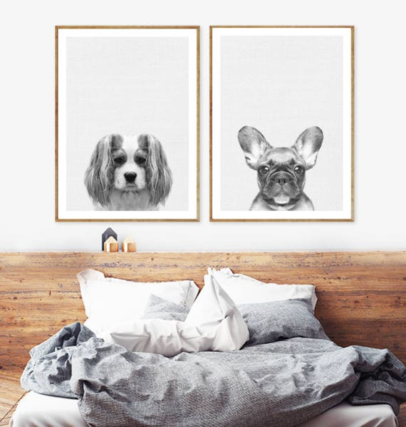 dog art print animal print master bedroom decor dog