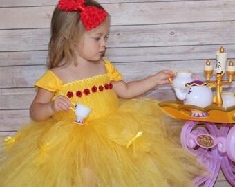 Belle Tutu, Belle Costume, Belle Birthday, Baby Girl Costume, Baby Girl Halloween, Halloween Costume, Toddler Halloween, Princess Tutu