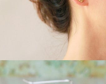SUMMER SLE Leaves Ear cuff , Ear Climber, bridal earrings, wedding earrings, Sterling silver and Gold Earrings , ear jacket
