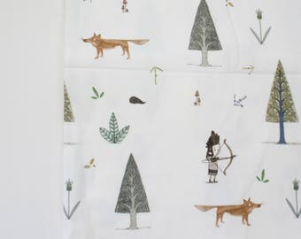 Organic Cotton Knit Forest Friends Fabric by the Yard - 50% OFF