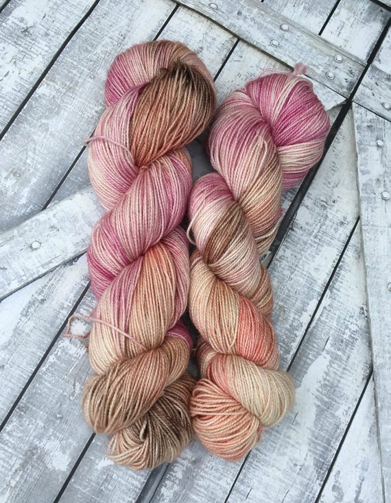 Hand Dyed Yarn, Fairy Mouse, Fingering Weight,2 ply,75/20/5 Superwash Merino/Nylon/Stellina mix,100 grams,indie dyed yarn,knit & crochet