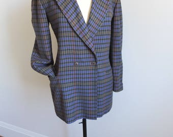 90's Jil Saunder Boyfriend Blazer - 36, womens wool tweed double-breasted oversized, vintage designer