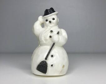 vintage plastic Christmas snowman