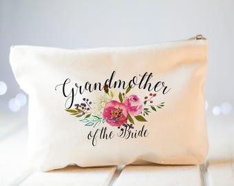 Grandmother Wedding Gift, Grandmother of the Bride gift, Wedding Gift for grandmother, Wedding Thank you gift for Grandmother, Makeup Bag