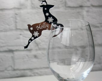 Wedding/Christmas Table Name Places - Fabulous Reindeer Christmas or Wedding Personalised place settings/wedding favour.