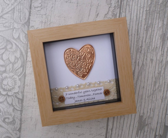 22nd Wedding Anniversary Gift Ideas: 7th Wedding Anniversary Gift, 7th Anniversary Gift,copper