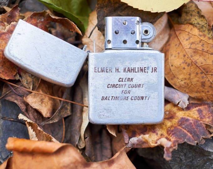 Vintage Park Lighter Elmer H Kahline Jr Clerk of the Circuit Court for Baltimore County