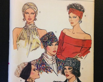 Vogue 9665 Hats, Headbands and Turbans All Sizes