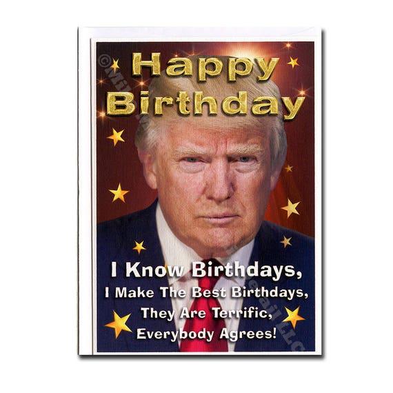 Amazon Com Funny Birthday Card Donald Trump Birthday: Birthday Card Funny Birthday Card Donald Trump Trump