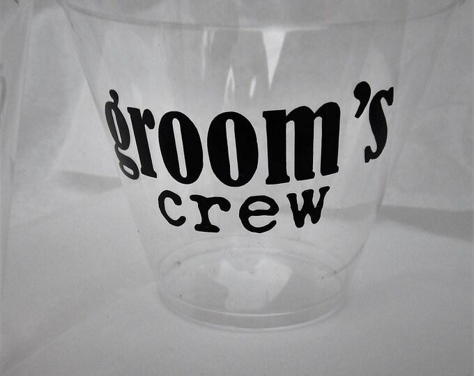 Grooms Crew / Groomsman Cup / Bachelor Party / Groom Party Cup / Weddings / Groomsmen Gift / Best Man Gift / Custom Groomsmen Gifts / Groom