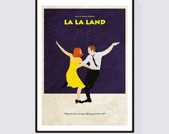 Alternate Movie Poster of La La Land - Alternative and Minimalist Poster of Damien Chazelle's Musical Film
