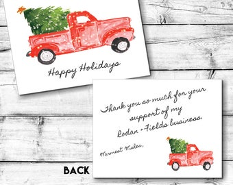 Rodan and Fields Holiday Greeting & Thank You Card | INSTANT DOWNLOAD