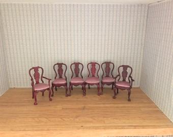 "1:24 half scale set of dinning chairs for 3"" dolls dollshouse diarama by JBM"