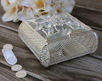 BIG Silver Wedding Arras, Jewelry Box, Arras de Boda, Unity Coins, Treasurer Chest, Wedding Arras, Silver Wedding Arras, Lasso Box