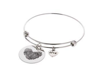 Thumbprint Necklace Etsy