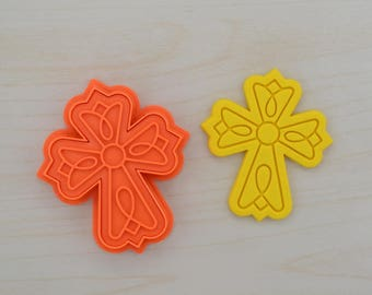 Cross Cookie Cutter and Stamp Set 100