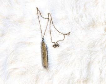 Vintage Brass Folding Knife Necklace/Pocket Knife