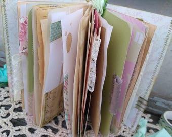 Junk journal book traveler's notebook insert junky tn daily planner handmade for travelers notebook a6 smash book