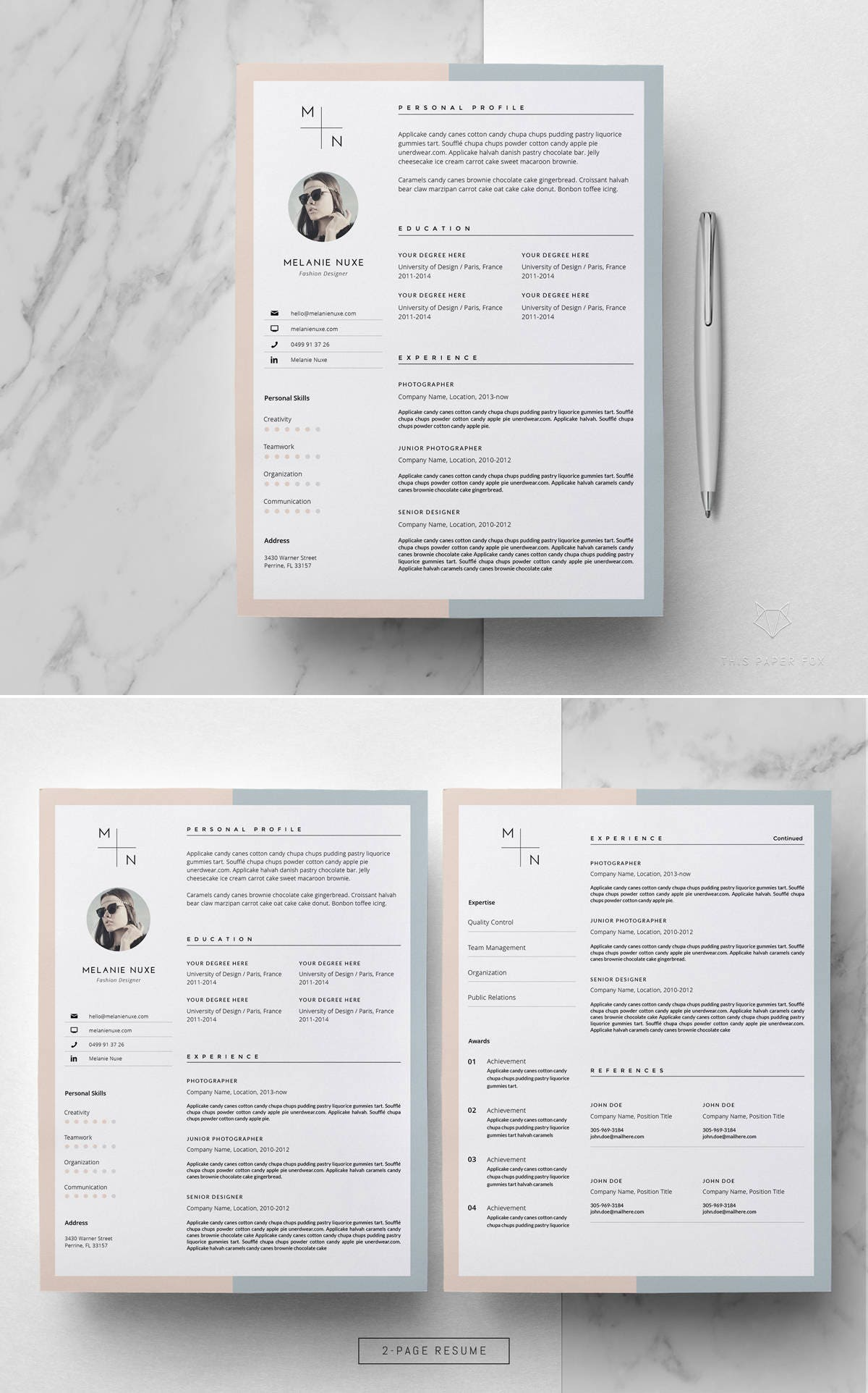 Resume Template Creative Resume Template For Ms Word
