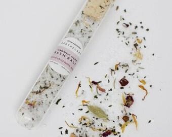 Organic Bath Salts - Epsom Salts and Dried Floral Blend