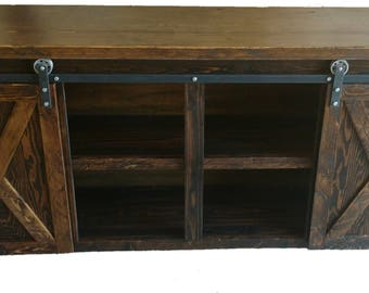Console Table with Barn Doors