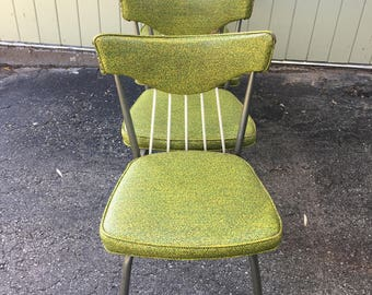 Set Of 4 Funky Mid Century Modern 1950u0027s Atomic Green Kitchen Dinette Chairs  Dining Breakfast Nook