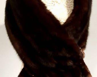 Luxury Vintage SABLE fur stole - Genuine Imperial Russian Barguzin Sable Wrap - Cape - Shawl  - Shrug  - Coat - Wedding - Bridal Fur -