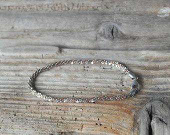 Vintage Sterling Silver and Silver Gilt unusual bracelet gift