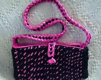 Trash Bag Purse - Pink and Black
