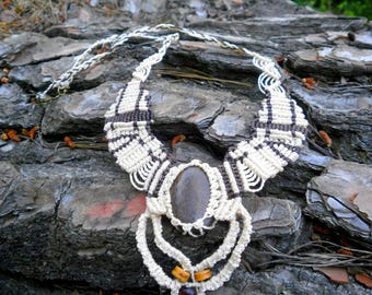 Ethnic macrame necklace
