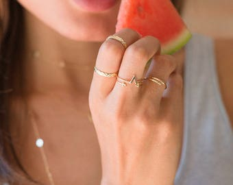 Tiny dot ring - adjustable gold ring - dainty open ring - open ring - adjustable ring - thin delicate ring - skinny open ring - dainty rings