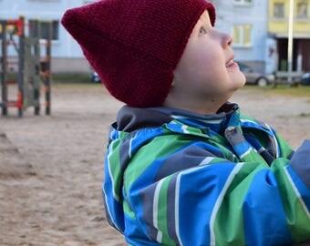 bordo Cat Hat, Ear hat, Cat Ear Beanie, Kitty Hat, Cat Beanie, bordo Pussyhat, childrens Cat Hat, Kitty Ears, boy Winter Outfit,children Hat