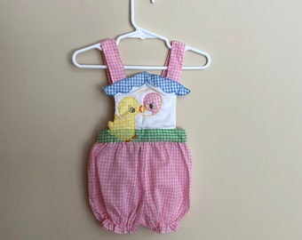 Vintage Checkered Summer One Piece Baby Girl
