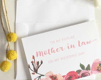 To My Mother In Law On My Wedding Day Card, Mother In Law Gift From Bride, Mother In Law Card On Wedding Day, Mother In Law Wedding Gift