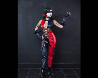 Harley Quinn cosplay costume from DC comics' Injustice: Gods Among Us the game (Special edition), Halloween costume