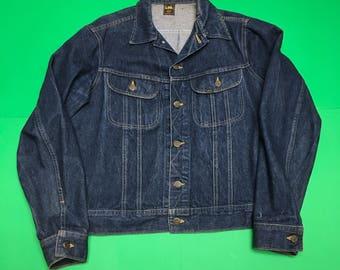 Vintage Lee Jean Jacket - 90s Denim Jacket - Vintage Lee Denim Jacket - 90s Jean Jacket - Vintage Jean Jacket - Dark Blue Jean Jacket