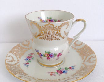Vintage Cup and Saucer Aida Germany