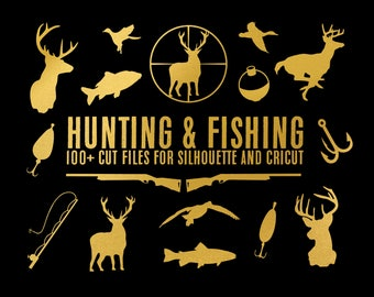 sale // hunting & fishing collection // svg dxf file instant download silhouette cameo cricut download clip art