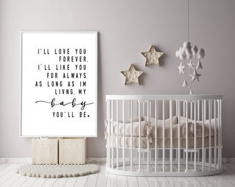 I Love You Forever I Like You For Always Quote Adorable Ill Love You Forever  Etsy