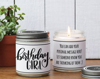 Birthday Girl Soy Candle | Birthday Gift for Her | Sister Birthday Gift | Daughter Birthday Gift | Mom Birthday Gift | Birthday Candle